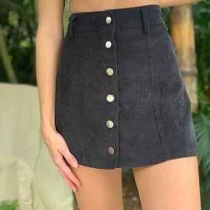 Princess Polly black mini button up skirt